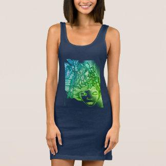 Frauen Jersey-Behälterkleid Ärmelloses Kleid