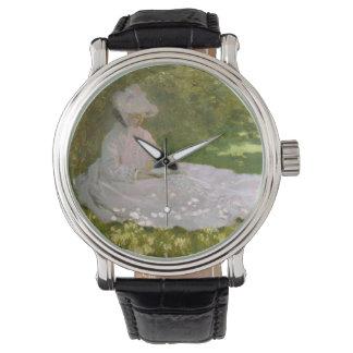 Frauen-LeseFrühjahr Monet Uhren