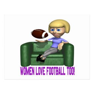 Frauen-Liebe-Fußball auch Postkarte
