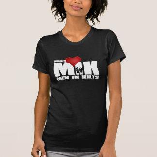 Frauen-Liebe-Männer in den Kilts T-Shirt