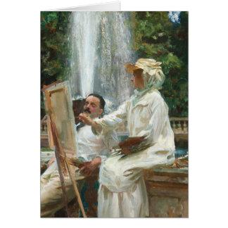 Frauen-Malerei am Landhaus Torlonia Italien Karte