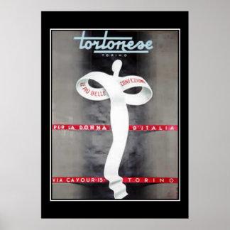 Frauen-Mode-Anzeigen-italienischer Plakat-Druck Poster