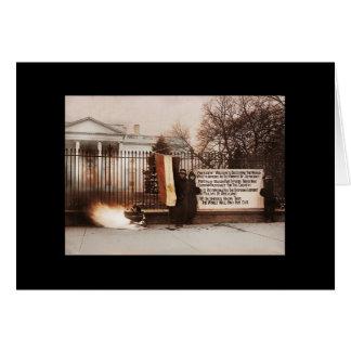 Frauen-Protest am Weißen Haus Grußkarte