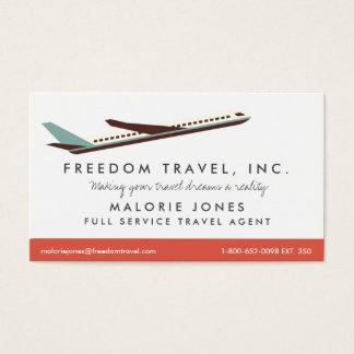 Frauen-Reise-Agent-Reisebüro-Geschäfts-Karte Visitenkarte
