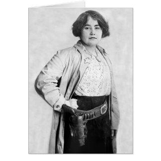 Frauen-Sheriff, frühe 1900s Karte