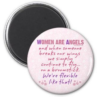 Frauen sind Engel Runder Magnet 5,7 Cm