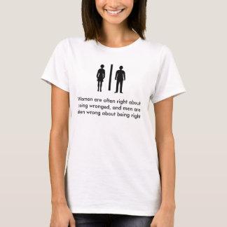 Frauen sind häufig nach rechts über Sein wronge… T-Shirt