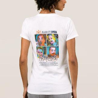 Frauen-T-Shirt Licht Insel-Stadt-Opern-Dons T-Shirt