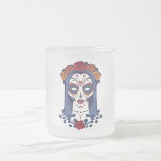 Frauen-Tag der Toten Matte Glastasse