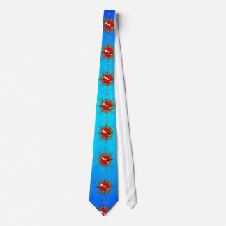 Frauen-Taucher und Kompass Personalisierte Krawatte