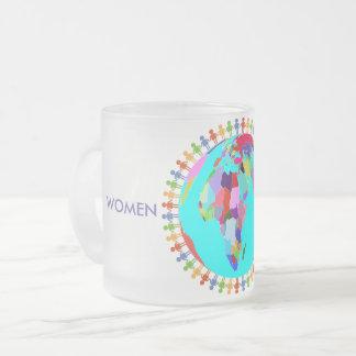 Frauen vereinigt mattglastasse