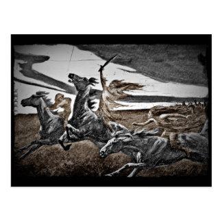Frauen-Viking-Krieger Postkarte