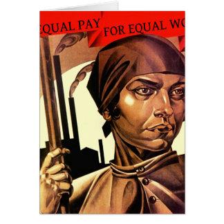 Frauen-Vintager gleicher Lohn für gleiche Karte