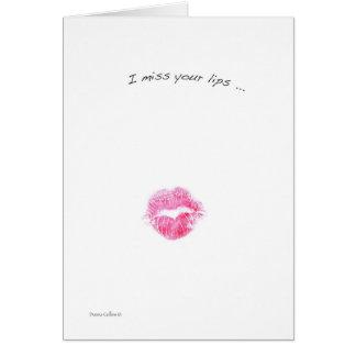 Fräulein Ihre Lippen Karte