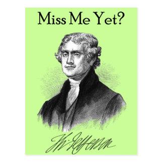 Fräulein Me Yet? (Thomas Jefferson) Postkarte