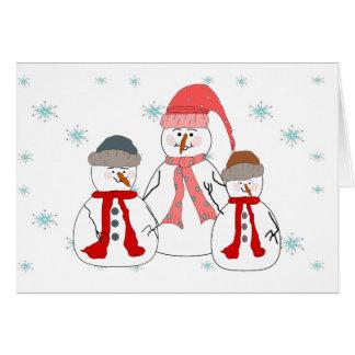 Fräulein Snowman, Schneemann-Kinderwunderliche Mitteilungskarte