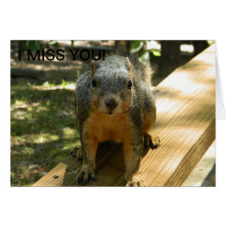 Fräulein You Squirrel Card Karte