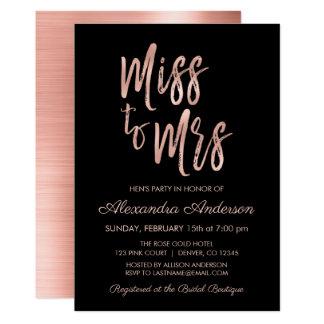 Fräulein zu Party Frau-Pink Rose Gold Hens Karte