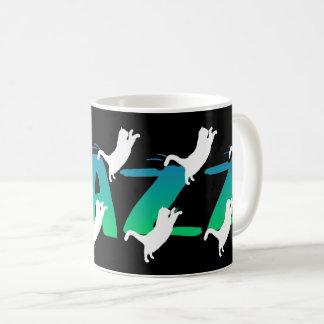 FRAZZ! Tanzende schwarze Katzen-Tasse Kaffeetasse