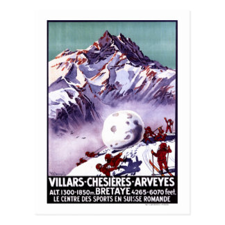 Freche Gnomes, die riesiges Schneeball-Plakat Postkarte