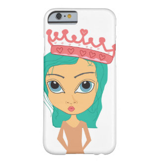 Freche Prinzessin mit Krone iPhone 6/6s Fall Barely There iPhone 6 Hülle