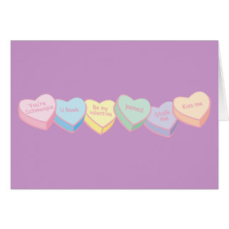 Freche Süßigkeits-Herzen Karte