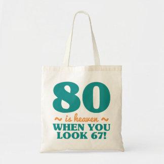 Frecher 80. Geburtstag Tragetasche
