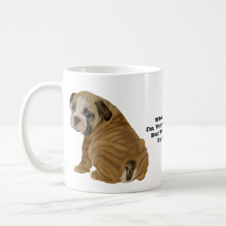 Frecher englischer Bulldoggen-Welpe Kaffeetasse