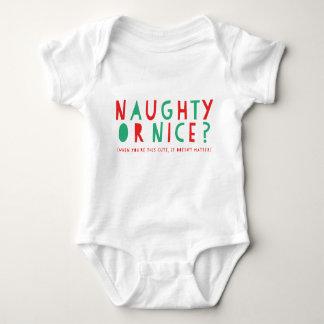 Frecher oder Nizza | Feiertags-Bodysuit Baby Strampler