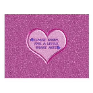 Freches Herz Postkarte