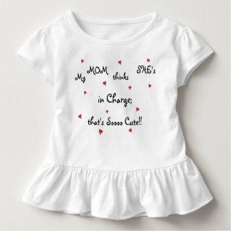 Freches Kleinkind-/Baby-Rüsche-T-Stück Kleinkind T-shirt