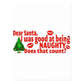 Freches Weihnachten Postkarte
