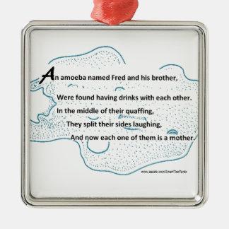 Fred die Amöbe - ein SmartTeePants Silbernes Ornament