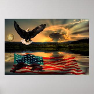Freedom-Eagle-W-Flag-2010 Plakatdrucke