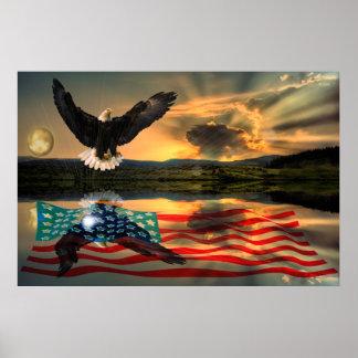 Freedom-Eagle-W-Flag-W-Star-burst-2010 Plakatdruck