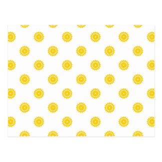 Freesia-Blumen-Muster 4 Postkarte