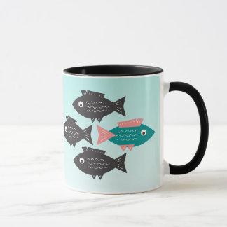 Frei-Denkendes Fisch-Leben wird GELEBT Tasse