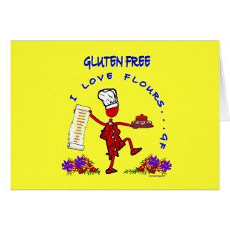 Freie I Liebe-Mehle des Gluten- Grußkarte