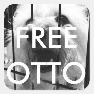 Freie Otto-Aufkleber Quadratischer Aufkleber