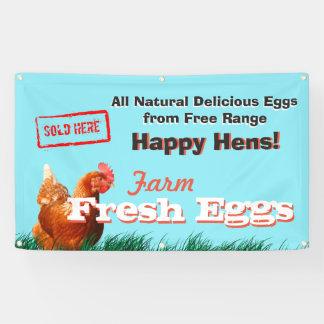 Freie Strecken-Huhn-Eier verkauften hier Fahne Banner