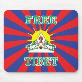 Freie Tibet-Schnee-Löwen und Sun-Symbol Mousepads
