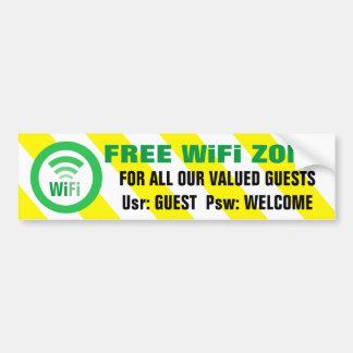 Freie WiFi-Zonen-Warnzeichen Autoaufkleber