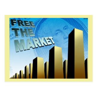 Freier Markt-Wirtschaft Postkarte