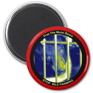 Freier Mond trägt Magneten Runder Magnet 5,1 Cm