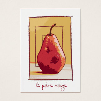 Freier Raum Le Poire Rouge (rote Birne) Visitenkarte