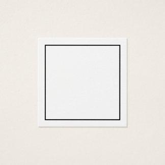 Freier Raum mit schwarzer Grenze Quadratische Visitenkarte