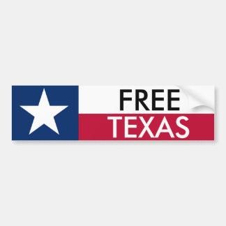 Freier Texas-Stoßdämpfer Sticket Autoaufkleber