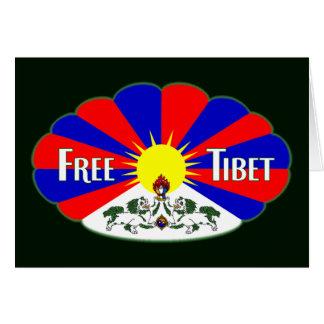 Freier Tibet-Aufkleber Karten
