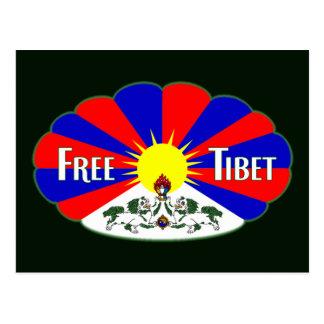 Freier Tibet-Aufkleber Postkarte