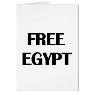 Freies Ägypten Grußkarte
